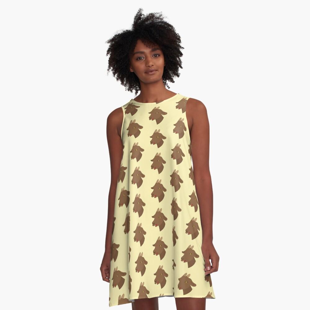 Girl goat A-Line Dress Front