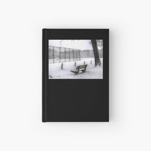 Snowy Bench Hardcover Journal