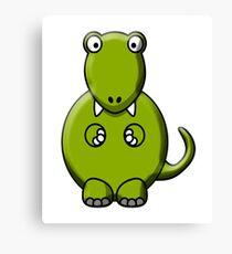 Tyrannosaurus Rex, T Rex, Cartoon, Dinosaur, Jurassic,  Canvas Print