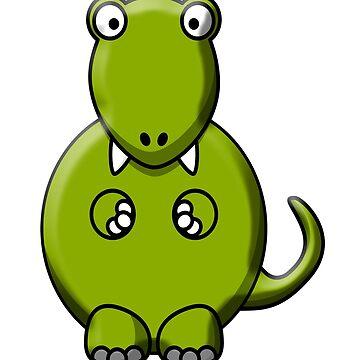 Tyrannosaurus Rex, T Rex, Cartoon, Dinosaur, Jurassic,  by TOMSREDBUBBLE