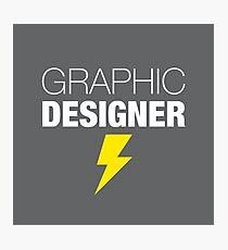 Graphic Designer's Thunderstrike Photographic Print