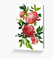 Multipivoine Greeting Card