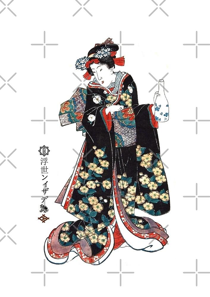W-003 Girl with Saki Bottle by StuartHammond