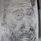 Self-portrait -(290417)- Black biro pen/Sketchpad/White paper by paulramnora