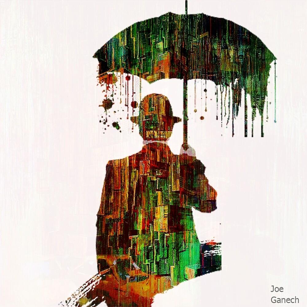 Rain in the abstract city  by ganechJoe