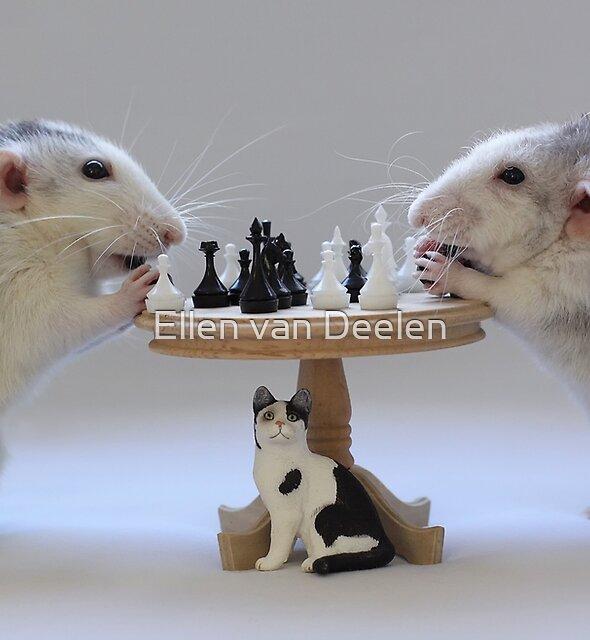 The real Chess Players :) by Ellen van Deelen