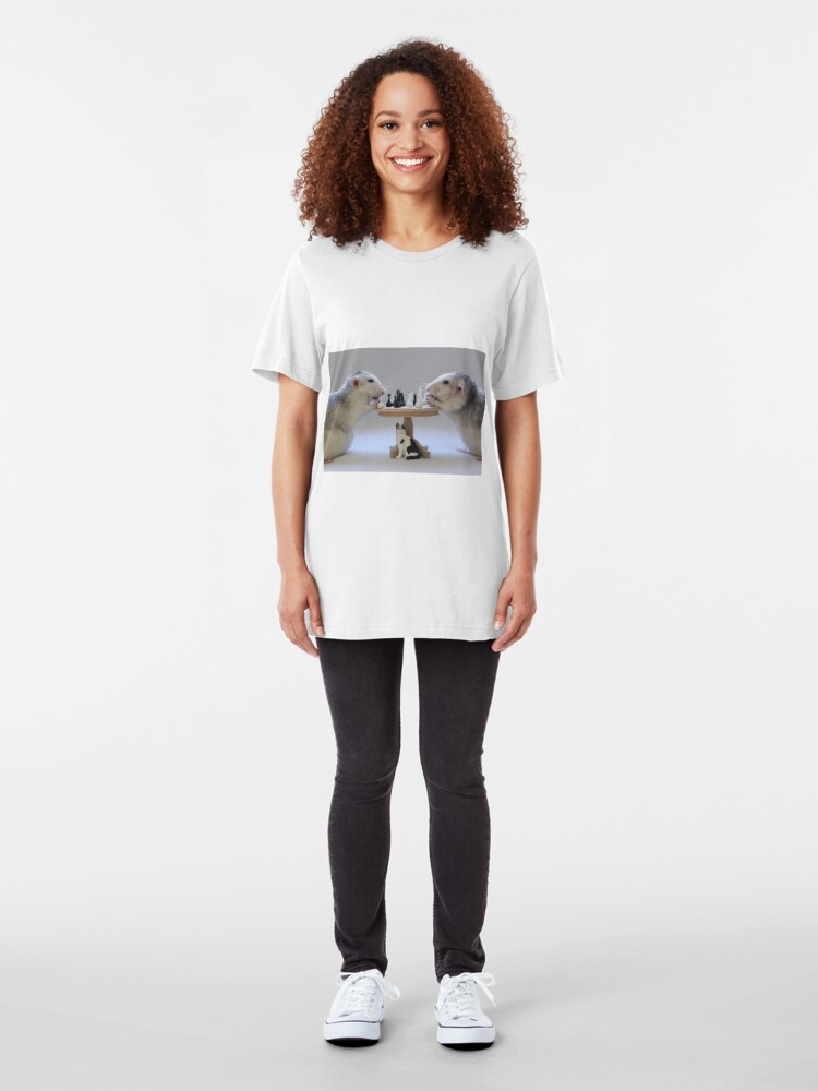 Alternate view of The real Chess Players :) Slim Fit T-Shirt