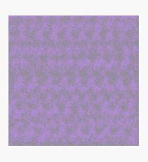 Light Purple Pixel Design Photographic Print