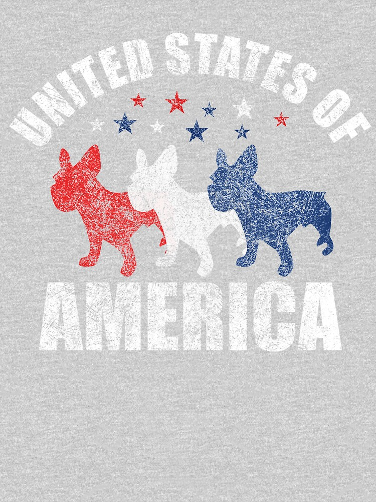 Vintage USA French Bulldogs and stars t-shirt by Dan66
