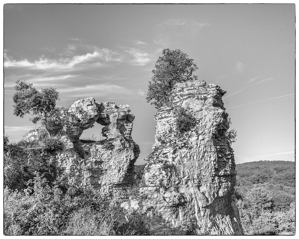 BW France Rocks at Montfort by Steven House