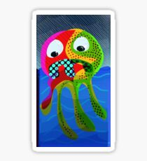 Squid No. 17 - Heavy Rains Sticker