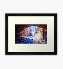 Panorama 2296: 13th Street under Noble Street Framed Print