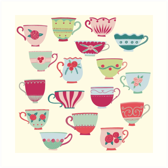China Teacups by Nic Squirrell
