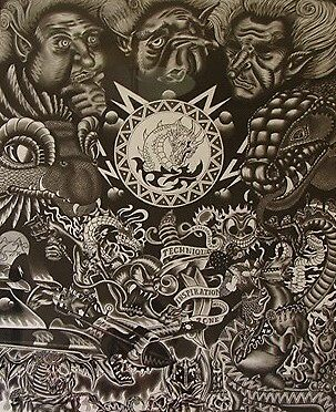 fantasy art charcoal by koru