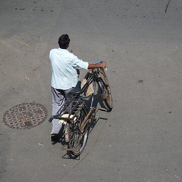 Bicycle man, Mumbai, India by SheriarIrani