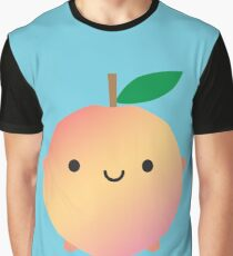 Kawaii Peach Graphic T-Shirt