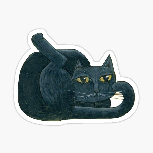 Mid-century Modern Black Cat Sticker