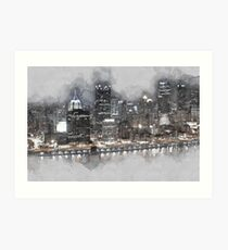 Night Drive Thru Pittsburgh Art Print