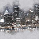 Night Drive Thru Pittsburgh by mrthink