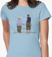 DA: Chelsie by the beach + quote Womens Fitted T-Shirt