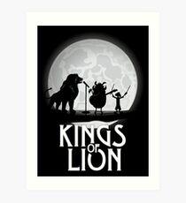 Kings of Lion Art Print
