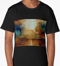 Joseph Mallord William turner vesuvius in eruption Long T-Shirt