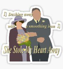 DA: Chelsie wedding + quote Sticker