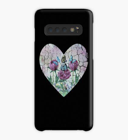 Alicia en el país de las maravillas - Jardín de las maravillas - Forma de corazón Funda/vinilo para Samsung Galaxy