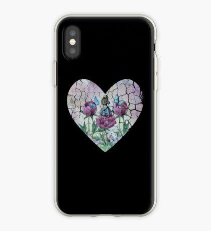 Alicia en el país de las maravillas - Jardín de las maravillas - Forma de corazón Vinilo o funda para iPhone
