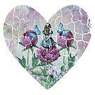 «Alicia en el país de las maravillas - Jardín de las maravillas - Forma de corazón» de maryedenoa