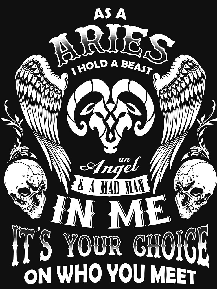 As A Aries I Hold A Beast An Angel A Madman In Me - Best Design by teerich