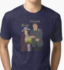 DA: Chelsie wedding BG Tri-blend T-Shirt