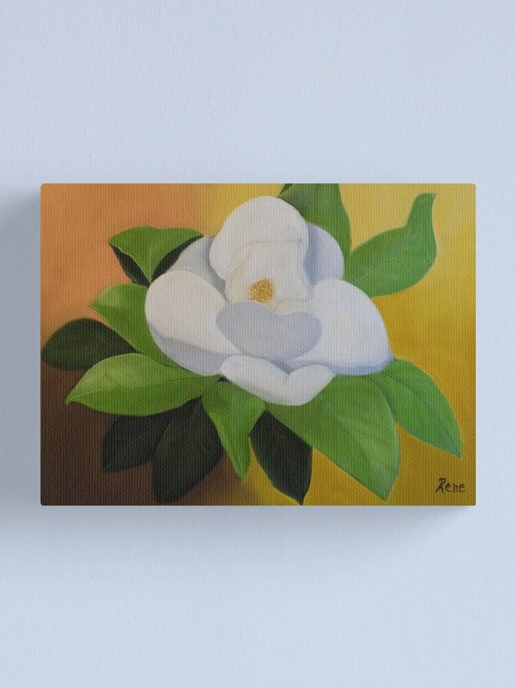 Alternate view of Magnolia In Full Bloom Canvas Print