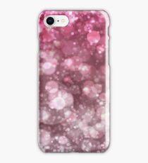 Pink Sparkling Ice Bokeh Print iPhone Case/Skin
