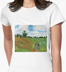 Landscape by Monet Womens Fitted T-Shirt