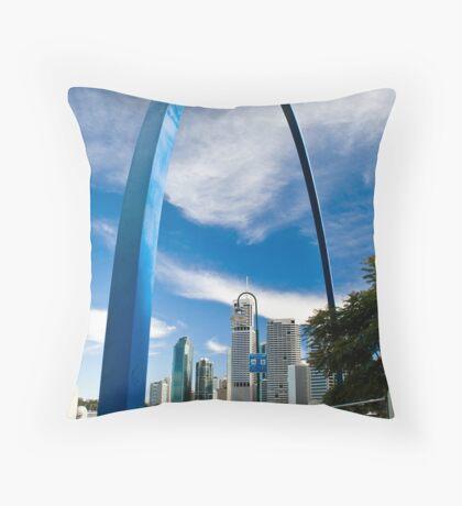 Blue Arch Throw Pillow