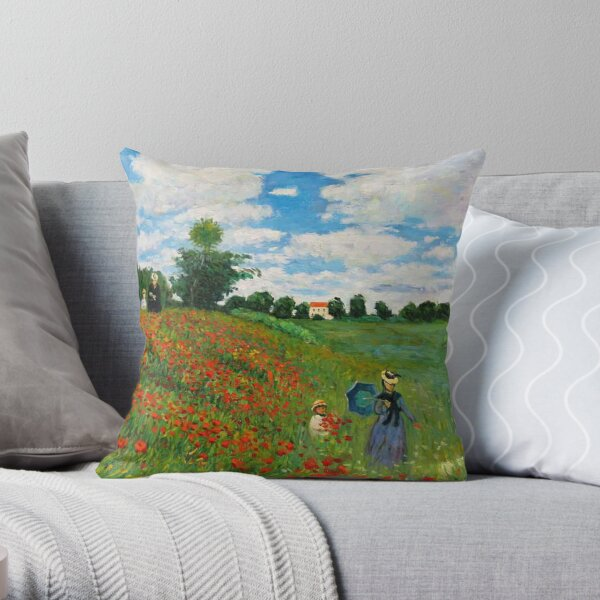 Landscape by Monet Throw Pillow