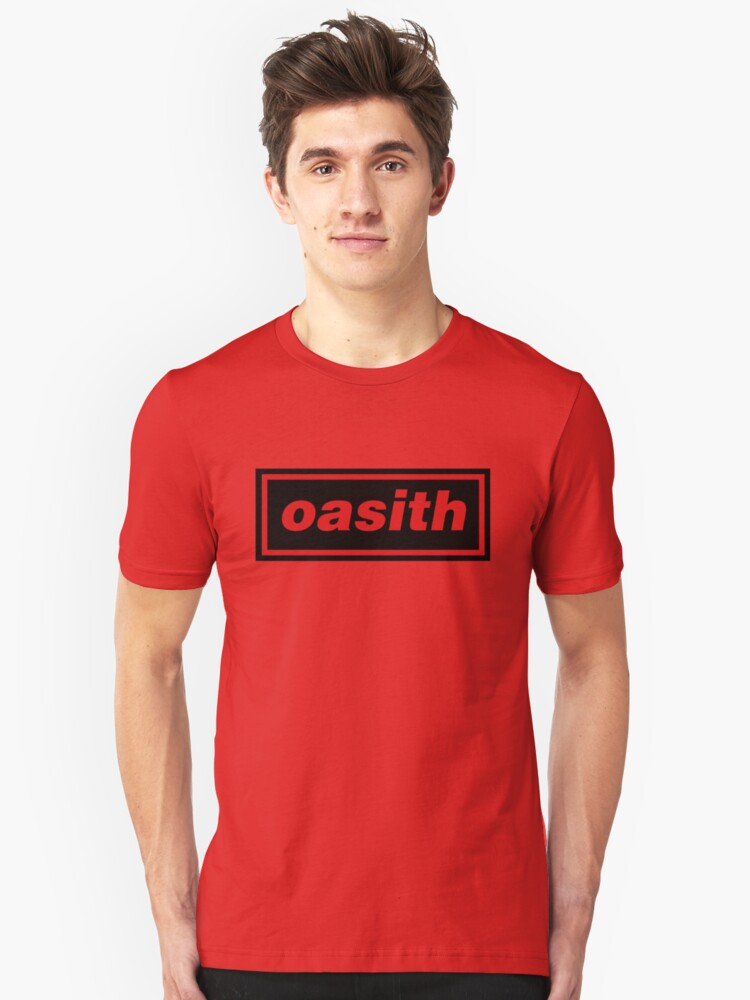 Alternate view of Oasith! Oasith! Oasith! Slim Fit T-Shirt