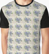 Sunny Plumbago Flowers Graphic T-Shirt