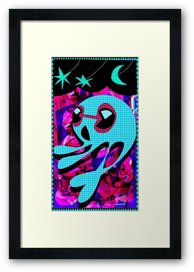 Squid No. 18 - Moon Gazing by Jon Jackson