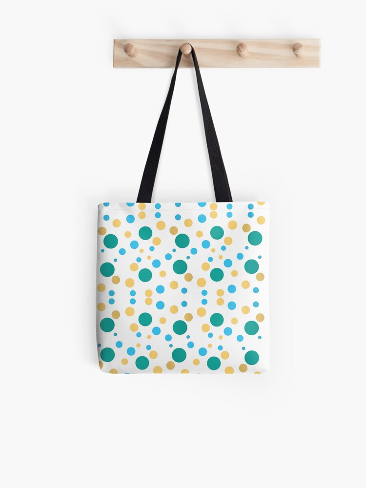 BlueWhite Polka Dots Tote Bag