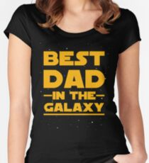 Father's Day - Best Dad in the Galaxy Women's Fitted Scoop T-Shirt
