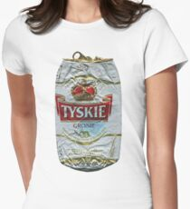 Tyskie - Crushed Tin Women's Fitted T-Shirt