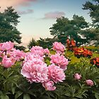 Hillside Peonies by Jessica Jenney