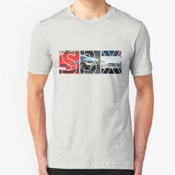 Tesla Models S 3 X Slim Fit T-Shirt