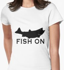 Fish On  Women's Fitted T-Shirt