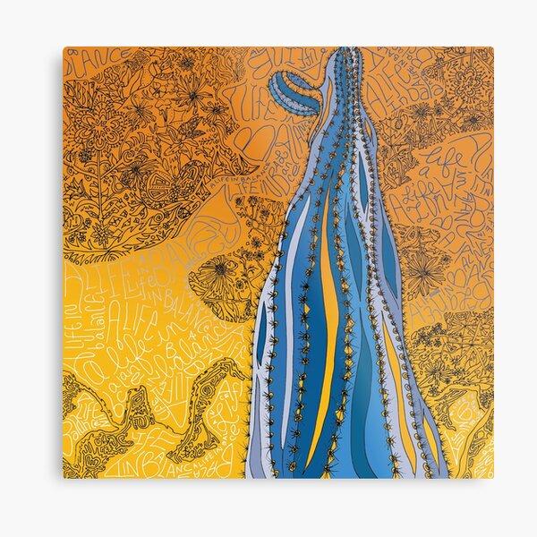 Life In Balance Saguaro - A Tucson Portrait Metal Print