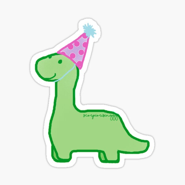 Feliz cumpleaños dinosaurio Pegatina