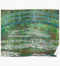 MONET, Claude, Artist, Art, Painter, Oil Painting, Canvas, The Japanese Footbridge, 1899. Poster