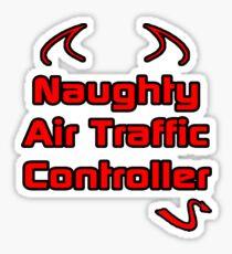 Naughty Air Traffic Controller Sticker
